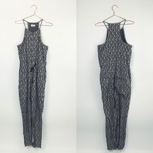Lou & Grey Scallop paisley black jumpsuit Small